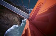 Looking Down on Golden Gate Bridge